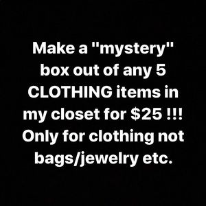 5 items for $25 dollars make your own mystery box